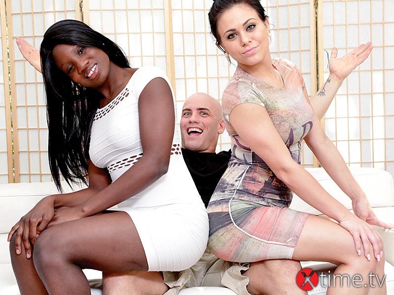 Threesome Interrazziale per Kay Love